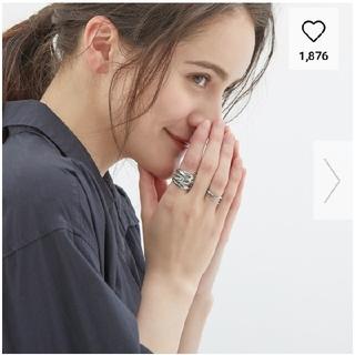 ジーユー(GU)の完売品!GU★レイヤードリングセット★シルバー(リング(指輪))