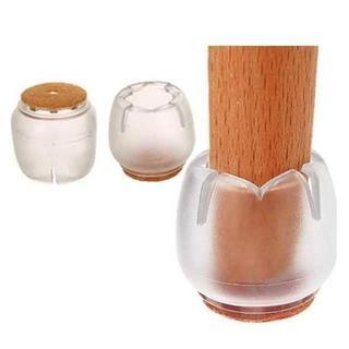 椅子脚 ゴムキャップ 透明 16個セット 角脚・丸脚兼用 26~31mm(その他)