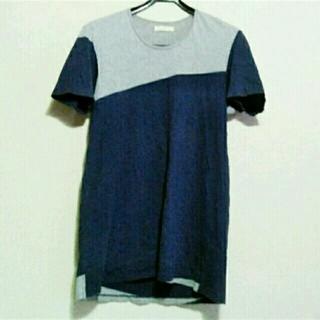 オータ(ohta)の【春紺】ohta(オオタ) 切り替えTシャツ navy×gray(Tシャツ/カットソー(半袖/袖なし))