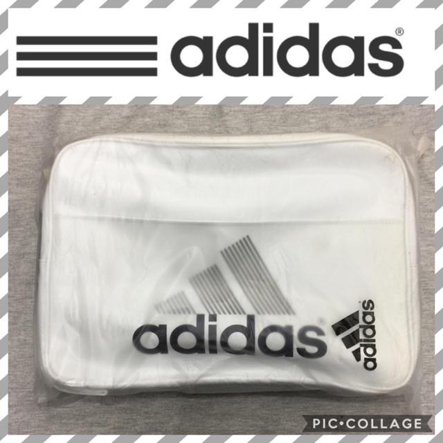 adidas(アディダス)のホワイト27L  adidasエナメルバッグ メンズのバッグ(ショルダーバッグ)の商品写真
