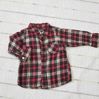 ユニクロ(UNIQLO)のチェックシャツ 90 ユニクロ(ブラウス)