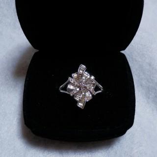 ダイヤリング*シャンパンカラーテーパーダイヤK18(リング(指輪))