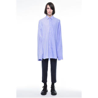ドレスドアンドレスド(DRESSEDUNDRESSED)のDRESSEDUNDRESSED  オーバーサイズストライプシャツ(シャツ)