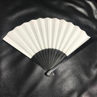 鉄扇 八寸 白地 和紙貼り 国産 中古 送料無料(相撲/武道)