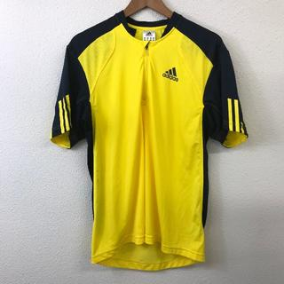 アディダス(adidas)の美品 adidas アディダス スポーツ ウェア 黄色 US M サイズ(Tシャツ/カットソー(半袖/袖なし))