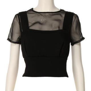 スナイデル(snidel)のsnidelレイヤード風カットビスチェ(Tシャツ(半袖/袖なし))