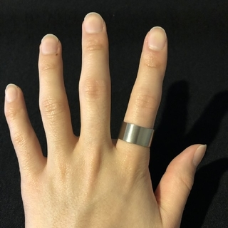 極太12mm幅リング 【21サイズ】他サイズ相談(リング(指輪))