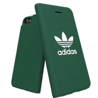 アディダス(adidas)の新品 アディダス オリジナルス iPhoneケース 8/7/6s/6 手帳型 緑(iPhoneケース)