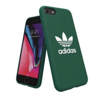 アディダス(adidas)の新品 アディダスオリジナルス iPhoneケース adidas 背面ケース 緑(iPhoneケース)