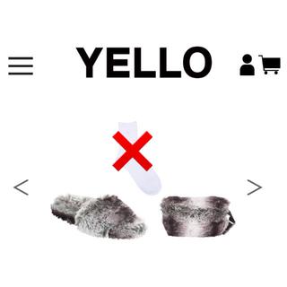 イエローブーツ(Yellow boots)のYELLO ファーフラットサンダル&ウエストポーチ(サンダル)