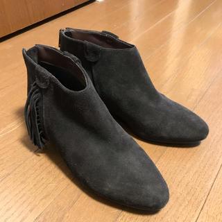 セヴントゥエルヴサーティ(VII XII XXX)の【V Ⅶ XⅡ XXX】フリンジショートブーツ Mサイズ ダークブラウン(ブーツ)