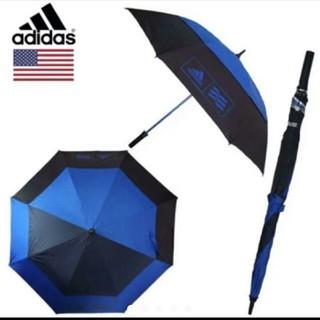 アディダス(adidas)の特大サイズ アディダス ゴルフ傘 晴雨兼用 スポーツ傘 ブルー(その他)