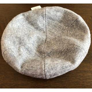 ユニクロ(UNIQLO)のUNIQLO グレー ベレー帽(ハンチング/ベレー帽)