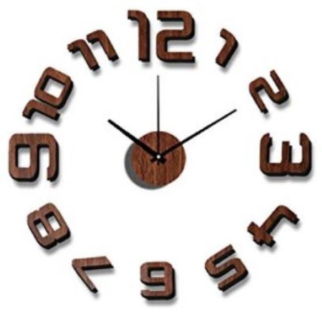 【送料無料】 おしゃれ ウォールクロック DIY ブラウン インテリア/住まい/日用品のインテリア小物(掛時計/柱時計)の商品写真