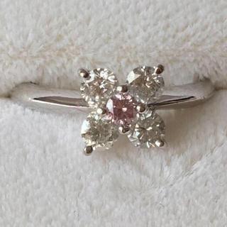 ピンクダイヤモンド ピンキーリング 18KWG  #3(リング(指輪))