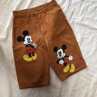 ディズニー(Disney)のビンテージ ミッキー ハーフパンツ 28インチ(ハーフパンツ)