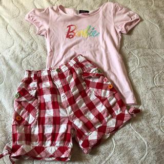 バービー(Barbie)のTシャツ ズボン 130 セット(Tシャツ/カットソー)