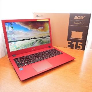 エイサー(Acer)のWindows10/2コア/4G/付属有 ACER E5-532 レッド(ノートPC)