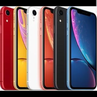 アップル(Apple)のiPhoneXR64GB黒赤白コーラル(モカさま用)(スマートフォン本体)