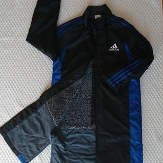 アディダス(adidas)のAdidas アディダス ベンチコート ボア 黒 ブルー 140(コート)
