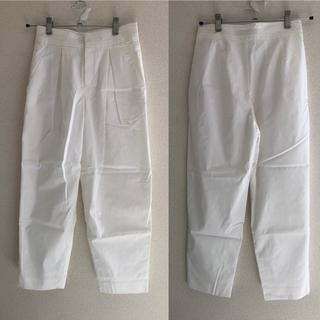 ノーブル(Noble)のNoble Spick&Span タックパンツ ホワイト 美品(カジュアルパンツ)