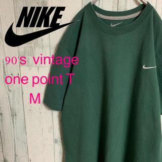 ナイキ(NIKE)の90's NIKE ナイキ ワンポイント スウォッシュ 刺繍Tシャツ M(Tシャツ/カットソー(半袖/袖なし))