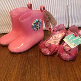 ドラミちゃん長靴 ボンボンリボン サンダル 幼児靴 レインシューズサンリオ 新品(長靴/レインシューズ)