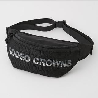 ロデオクラウンズワイドボウル(RODEO CROWNS WIDE BOWL)の新品ブラック メッシュボディバッグ(ボディーバッグ)