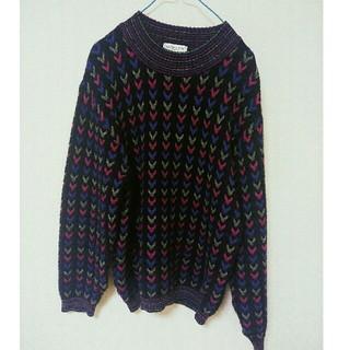 ナイガイ(NAIGAI)の【古着】ハートがたくさん柄セーター(ニット/セーター)