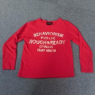 シスキー(ShISKY)の男の子 長袖Tシャツ 130 赤 レッド 長T(Tシャツ/カットソー)