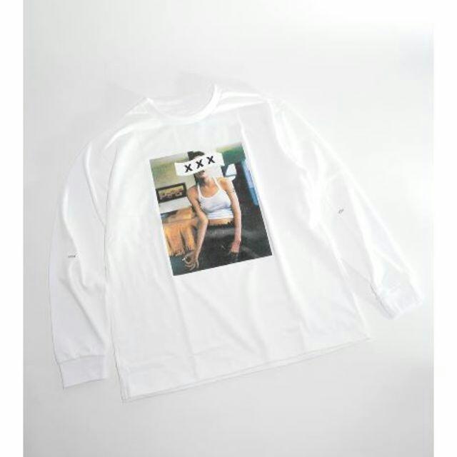 Thee Hysteric XXX(ジィヒステリックトリプルエックス)の新作 新品 ゴッドセレクションXXX L/S ホワイトM メンズのトップス(Tシャツ/カットソー(七分/長袖))の商品写真