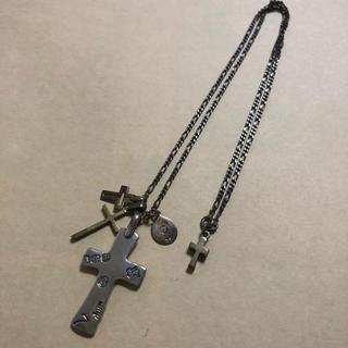 アンプジャパン(amp japan)のamp japanのクロスネックレス シルバー 真鍮 十字架(ネックレス)