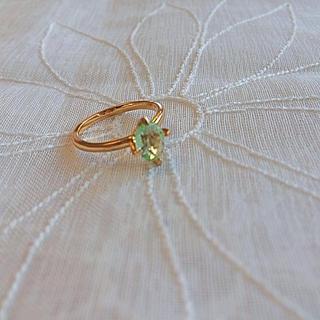 アクアガール(aquagirl)のグリーンストーンリング(リング(指輪))