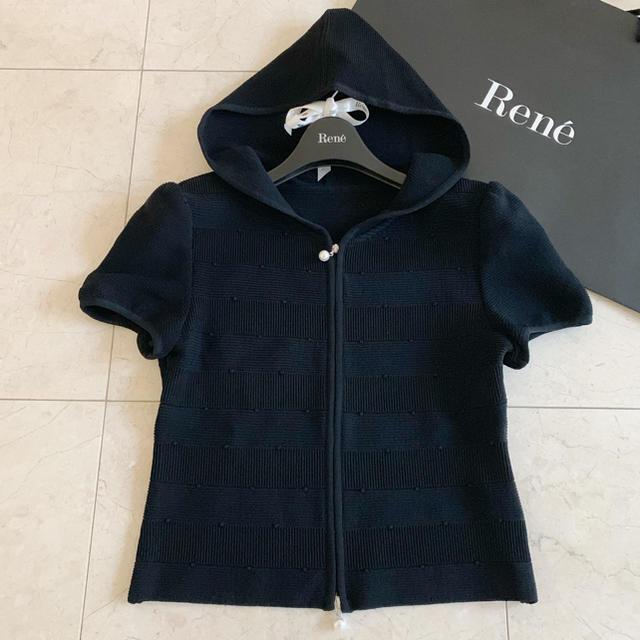 René(ルネ)の美品 ルネ 半袖 パーカー レディースのトップス(パーカー)の商品写真