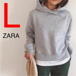ザラ(ZARA)のザラ ZARA パーカー クロップド丈トップス(パーカー)
