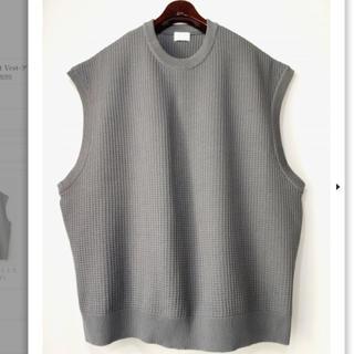 アンユーズド(UNUSED)の【URU】Over Knit Vest-グレー (ベスト)