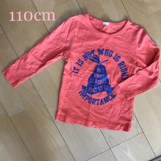 ジーユー(GU)の同梱100円☆110 GU 長袖Tシャツ オレンジ (Tシャツ/カットソー)
