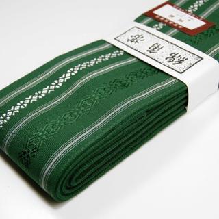 桐生帯 綿角帯 献上柄 新品 緑(帯)