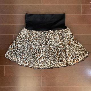 シマムラ(しまむら)のシフォン素材♡ヒョウ柄スカート(ミニスカート)