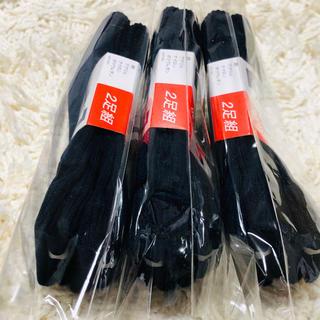 ナイガイ(NAIGAI)の日本製スクール靴下 ネイビー 19〜20cm 新品 直角ヒール(靴下/タイツ)