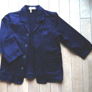 ミキハウス(mikihouse)の美品 ミキハウス 紺 ジャケット 130cm(ジャケット/上着)