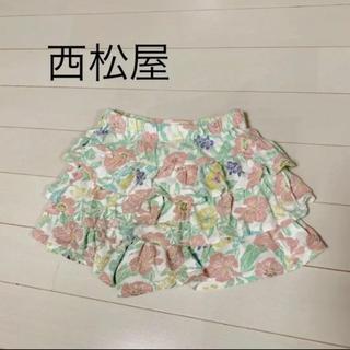 ニシマツヤ(西松屋)のスカート 花柄 キュロットフリル(スカート)