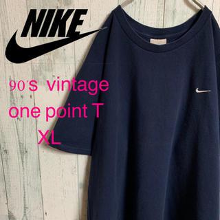 ナイキ(NIKE)の90's NIKE ナイキ ワンポイント スウォッシュ 刺繍Tシャツ XL(Tシャツ/カットソー(半袖/袖なし))