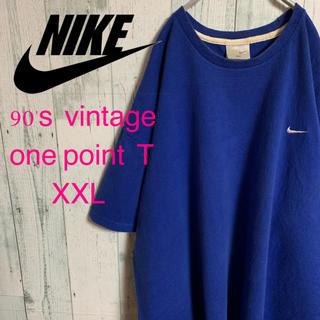 ナイキ(NIKE)の90's NIKE ナイキ ワンポイント スウォッシュ 刺繍Tシャツ XXL(Tシャツ/カットソー(半袖/袖なし))
