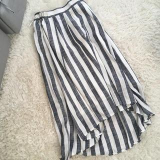 ティアンエクート(TIENS ecoute)の新品 ストライプフレアスカート(ひざ丈スカート)