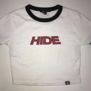 ミックスエックスミックス(mixxmix)のHIDE クロップドTシャツ ホワイト(Tシャツ(半袖/袖なし))