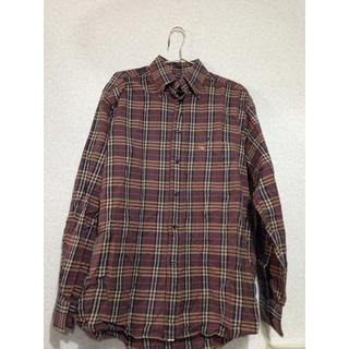 バーバリー(BURBERRY)のBurberry バーバリー ブラウンチェック 長袖シャツ メンズ(Tシャツ/カットソー(七分/長袖))