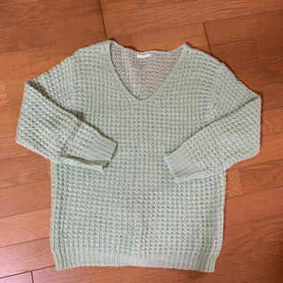 ジーユー(GU)のグリーンセーター(ニット/セーター)