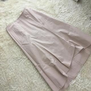ティアンエクート(TIENS ecoute)の新品 ピンクベージュスカート(ひざ丈スカート)