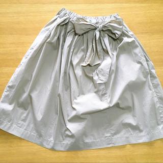 ジルサンダー(Jil Sander)の+J  膝丈スカート ベージュ(ひざ丈スカート)